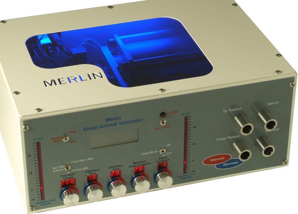 The Merlin animal ventilator