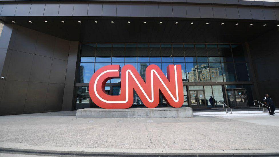 CNN sign in Atlanta, Georgia, in May 2021
