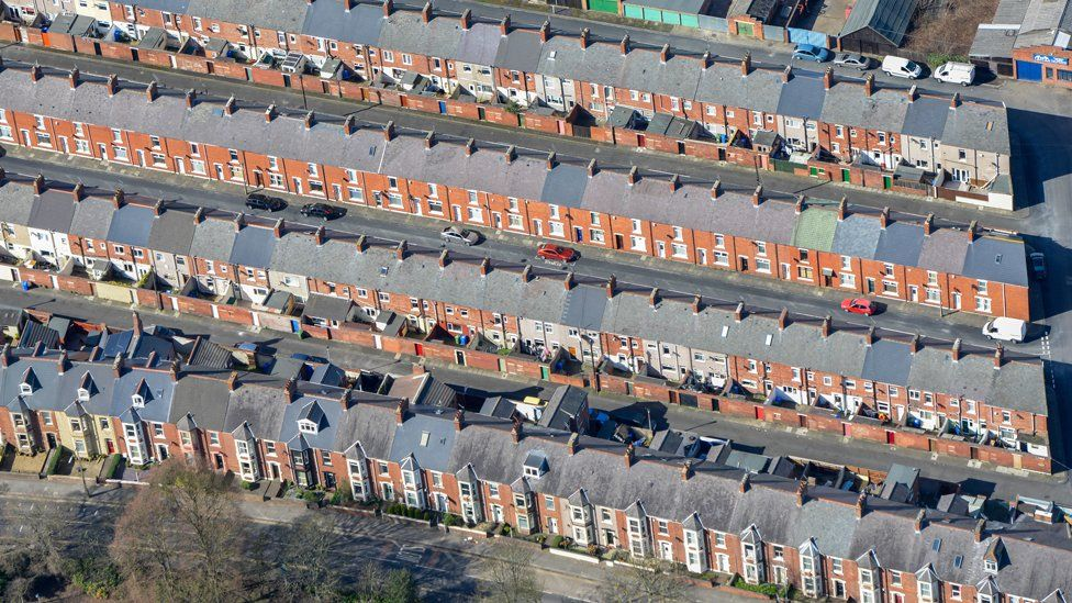 Aerial photograph of Blyth Northumberland