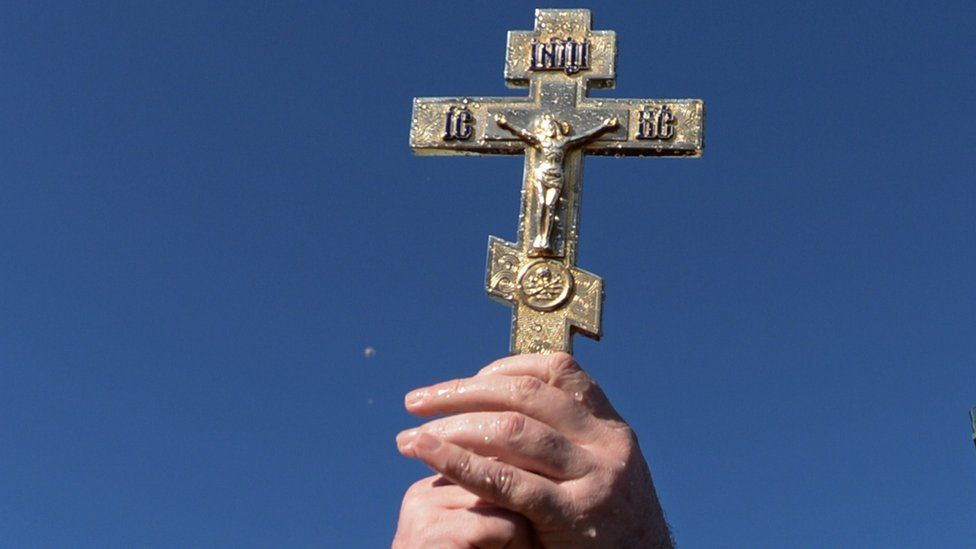 Russian Orthodox Christian cross - file pic