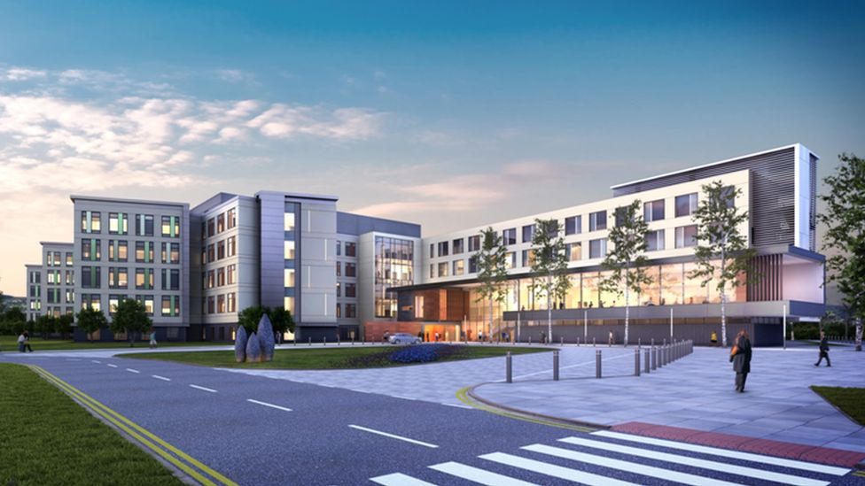 Artist's impression of the Specialist and Critical Care Centre near Cwmbran