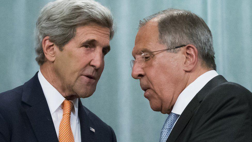 John Kerry and Sergey Lavrov
