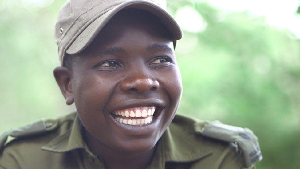 Nyaradzo Hoto - a member of a Zimbabwe award-winning anti-poaching unit, 13 November 2018