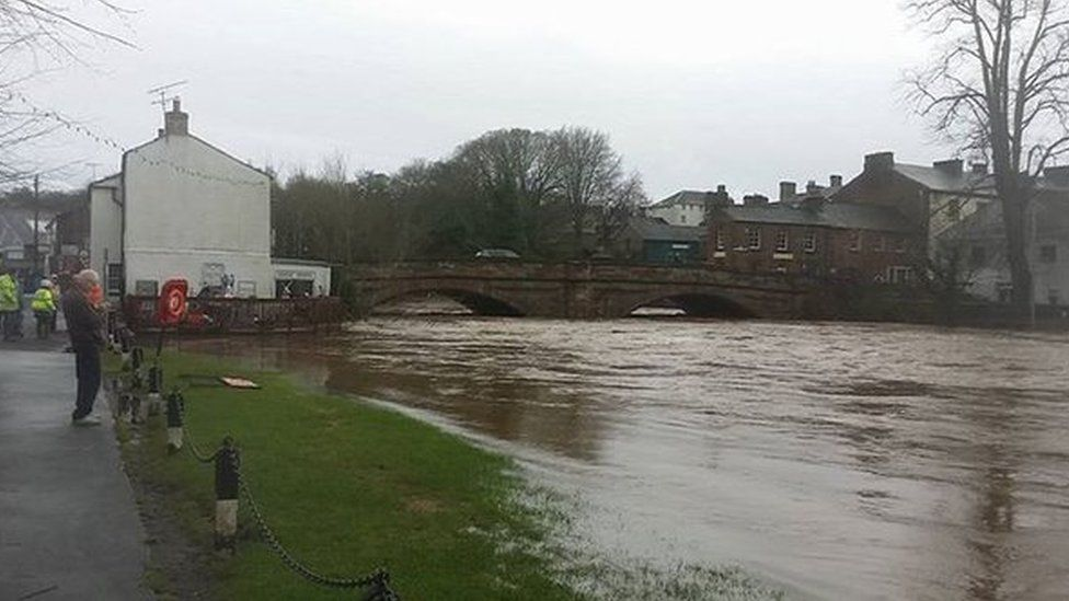 Rising river levels in Appleby