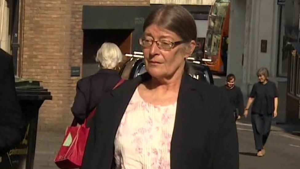 Susan Smith arriving at Bristol Crown Court on Thursday