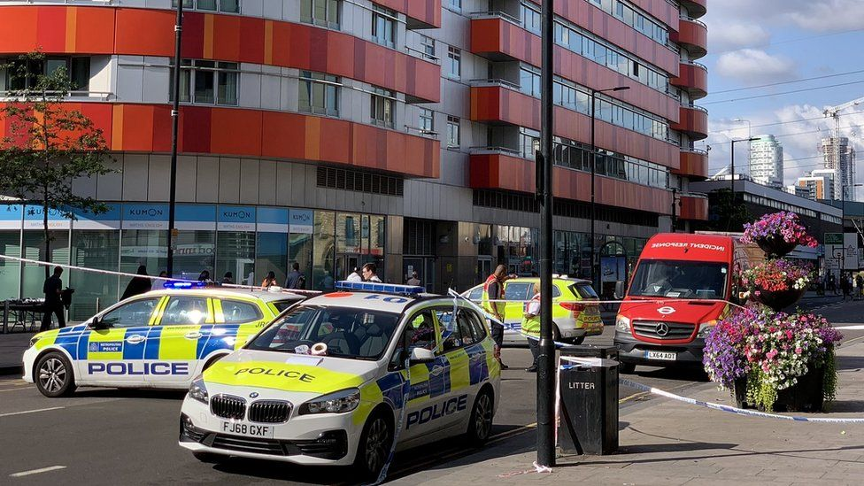 Police in Canning Town