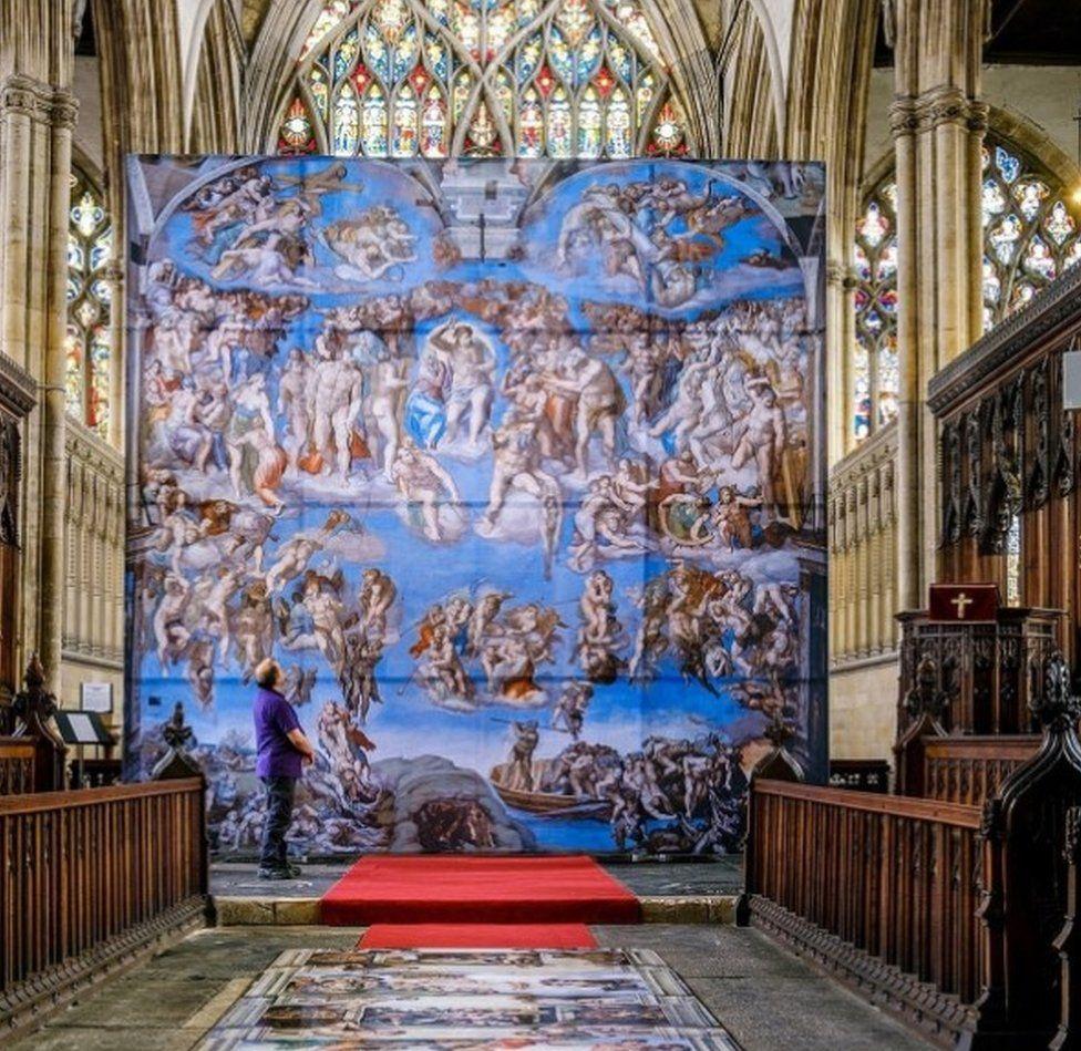 Michelangelo's frescos on show in Hull Minster