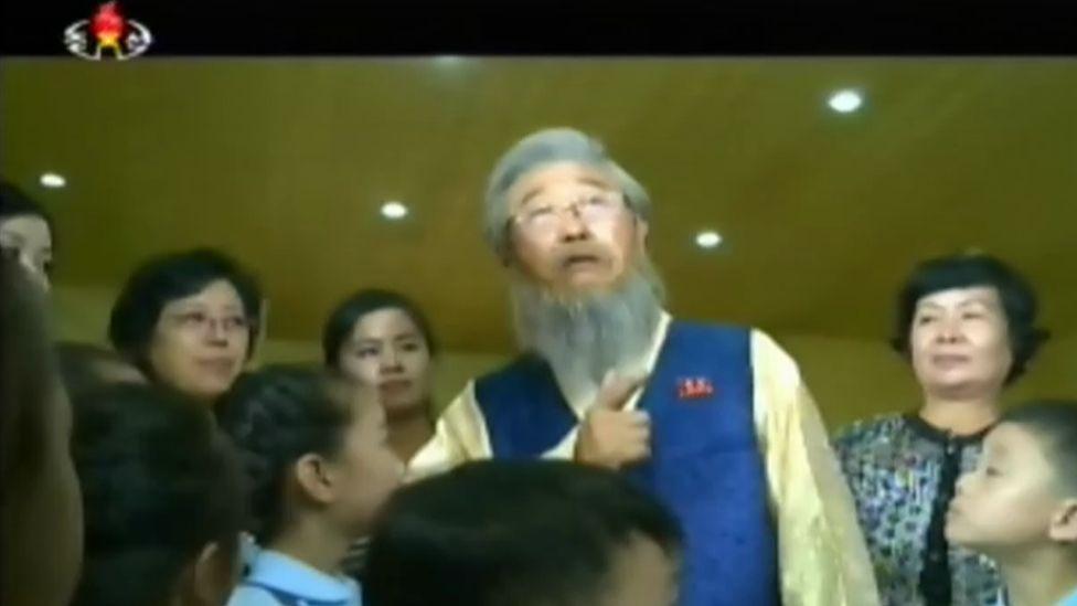 Story-Telling Grandfather on Korean TV