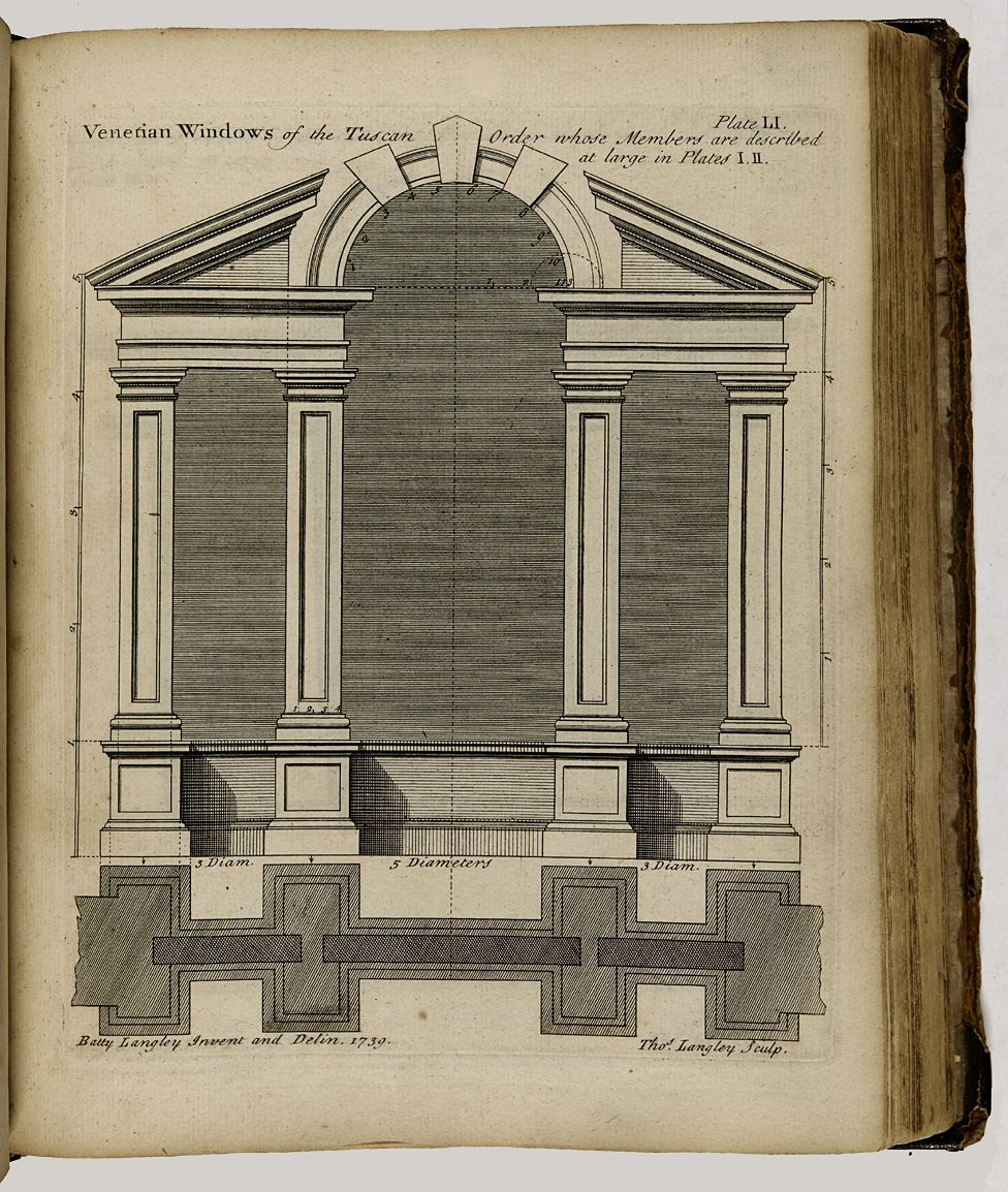 Drawing from The City and Country Builder's, and Workman's Treasury of Designs - by Batty Langley, 1740