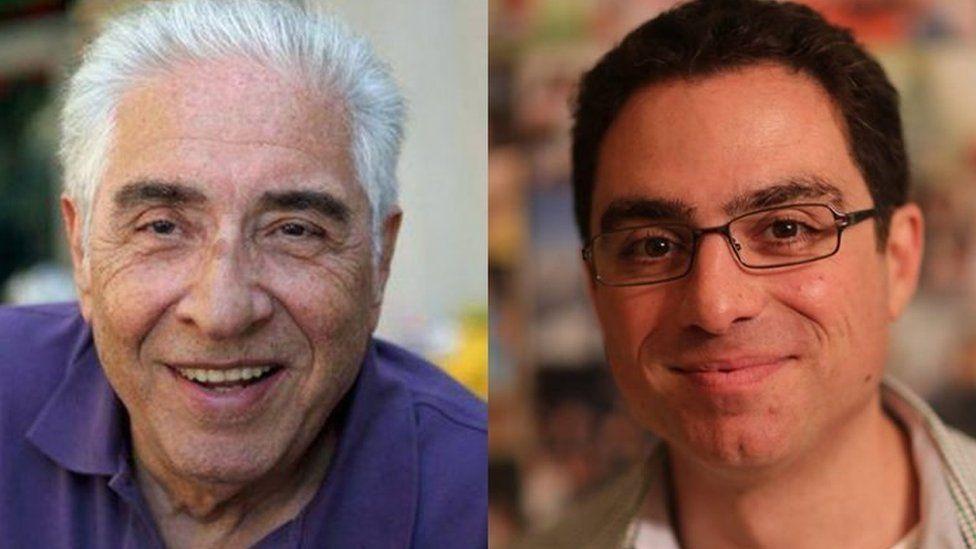 Iranian-American businessman Siamak Namazi (right) and his father Baquer
