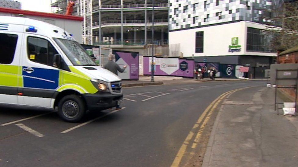 Police investigating the stabbing on Holliday Street in Birmingham