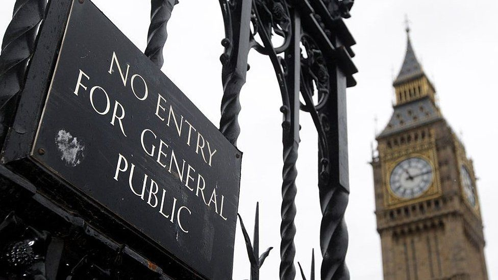 Big Ben and a no entry sign