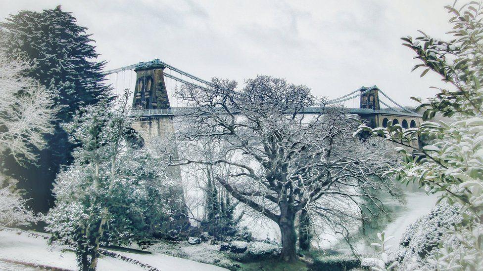 Menai Bridge from Bangor