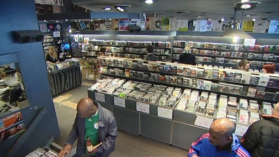 Inside the former Selectadisc record shop in Nottingham