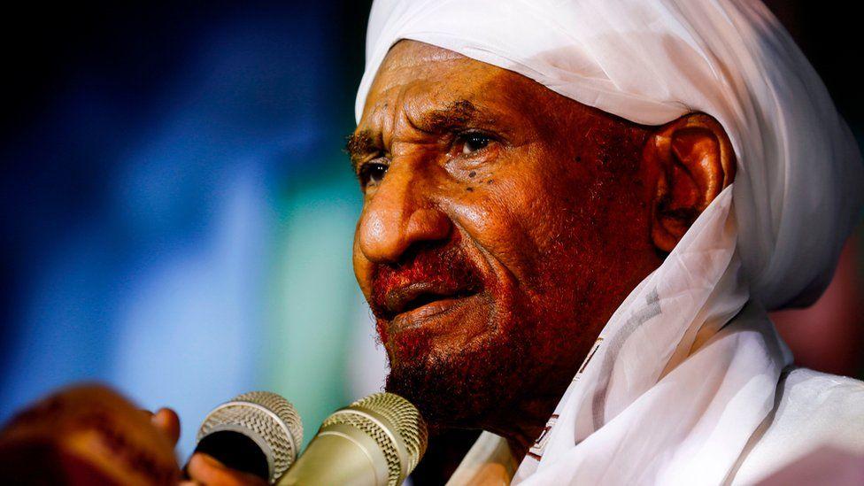 Sadiq al-Mahdi in Omdurman