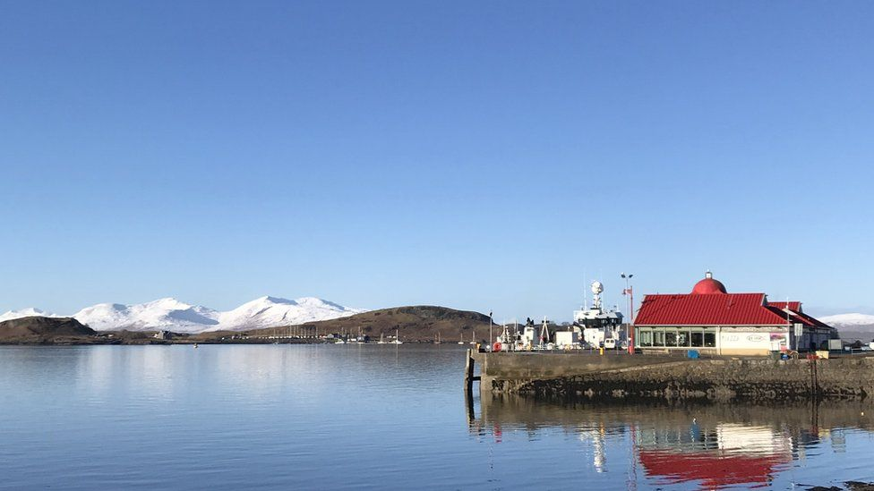 View from Oban harbour