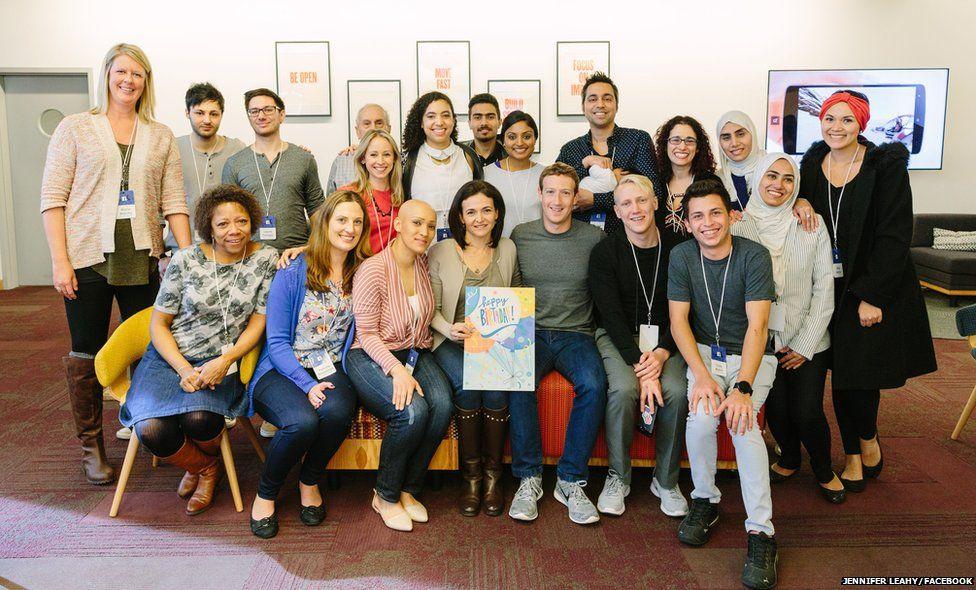 Mark Zuckerberg and Sheryl Sandberg hold a Friends Day event at the company's Menlo Park headquarters