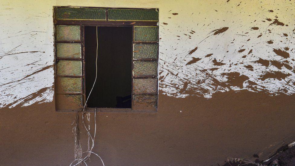 House struck by the mud in Córrego do Feijão near the town of Brumadinho