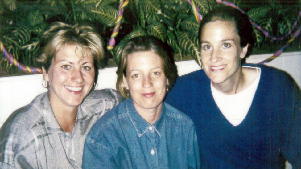 Helen Russell (left) and her wife Brooke McDonnell (right) with their first employee Maureen McHugh