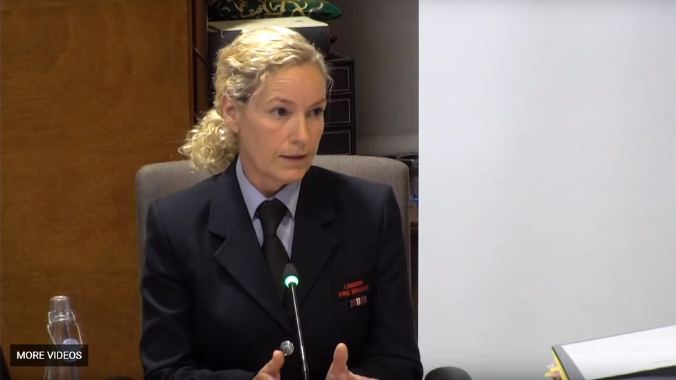 Theresa Orchard giving evidence to the inquiry
