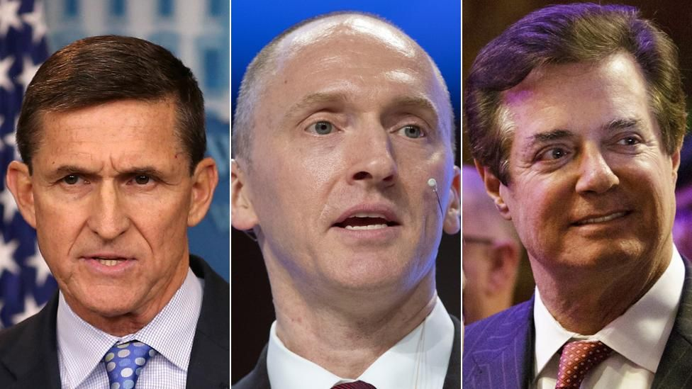 Mike Flynn, Carter Page and Paul Manafort