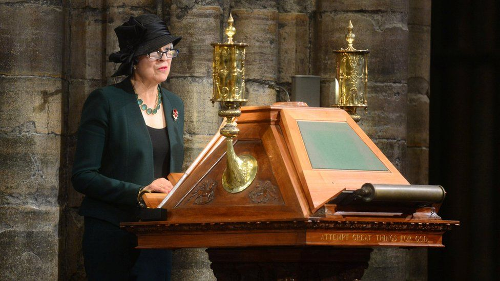 Theresa May read a passage from the Book of Isaiah