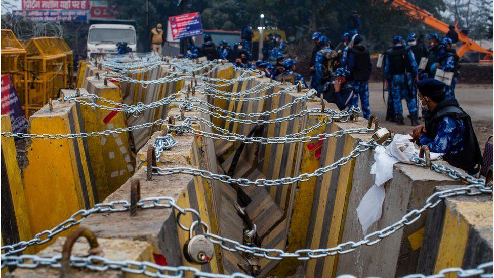 Barricades at Singhu