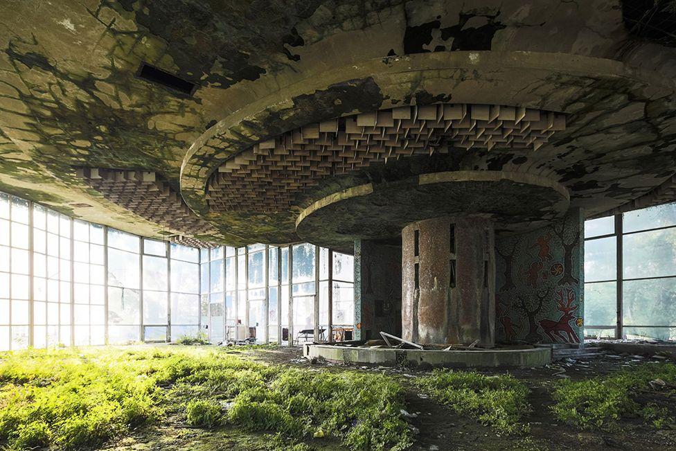 An abandoned coffee shop, Abkhazia.