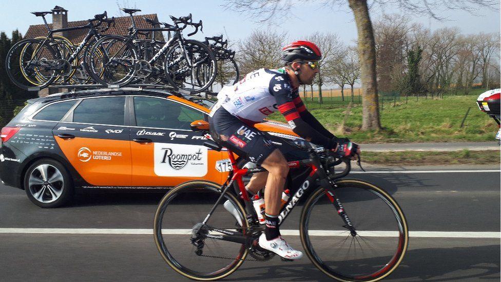 UAE team cyclist
