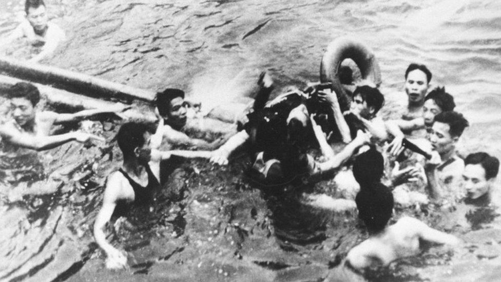 John McCain Is Pulled Out Of A Hanoi Lake By North Vietnamese Army Soldiers And Civilians October 26, 1967