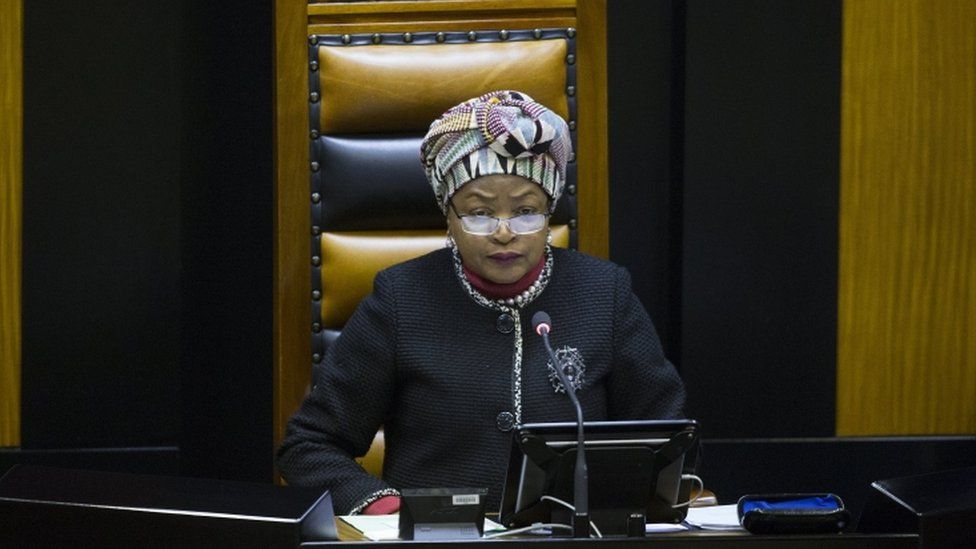 South African speaker Baleka Mbete