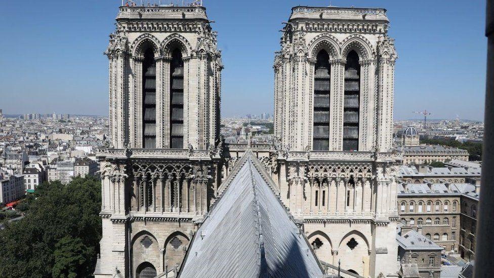 A photo taken on June 26, 2018 shows the Notre-Dame de Paris Cathedral in Paris