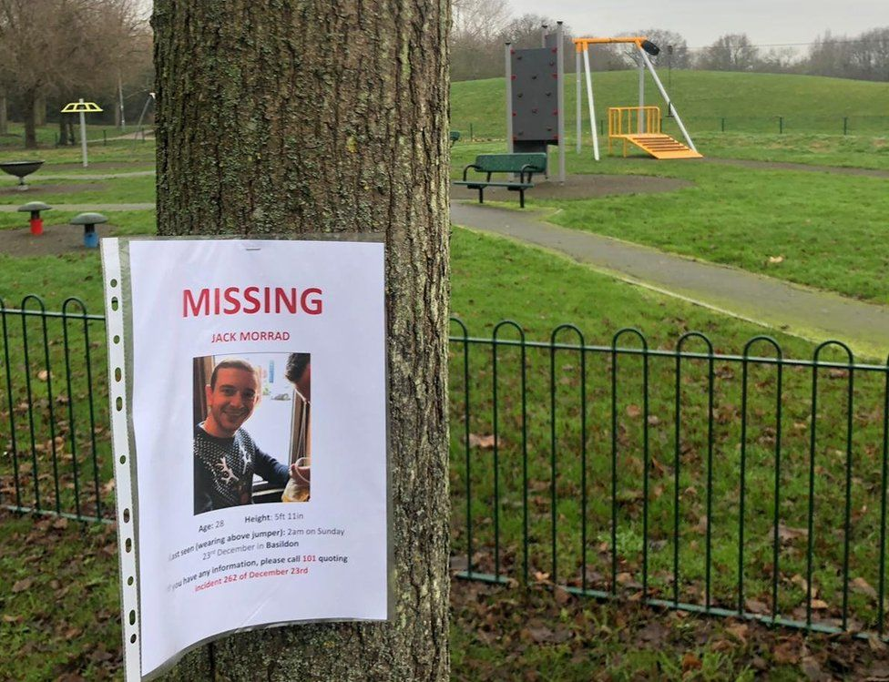 A missing person poster for Jack Morrad at Gloucester Park