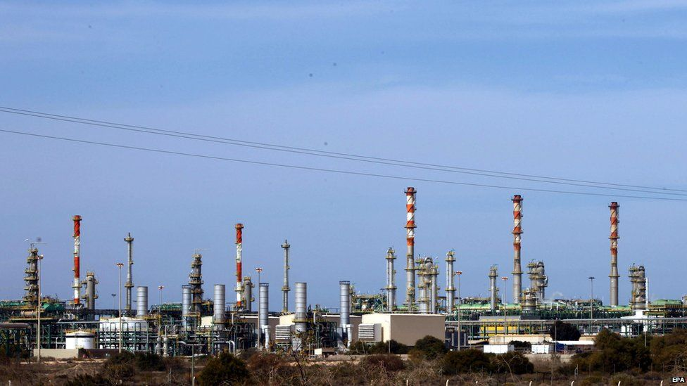 A general view taken on 6 January of e Mellitah Oil and Gas terminal on the outskirts of Zwara in western Libya