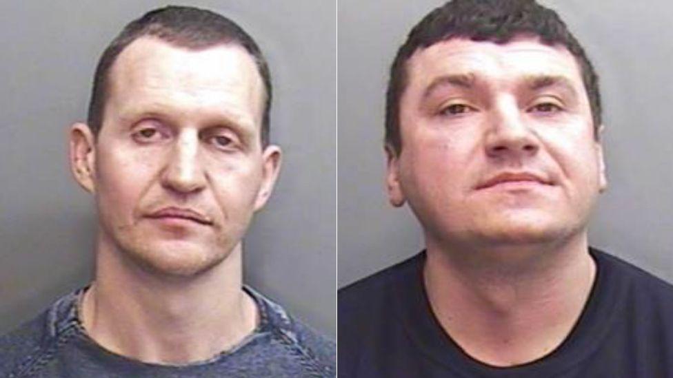 Andruis Buinevicius and Gytis Inokaitis police mug shots