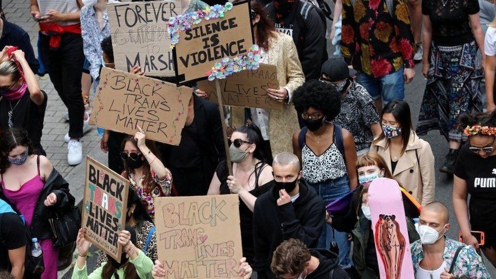 Black Trans Matter rally in London