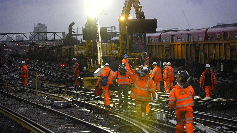 Rail engineering work
