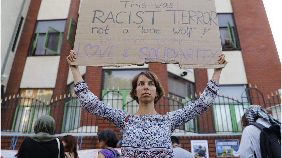 Vigil outside FInsbury Park
