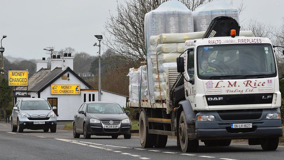 Lorries at the border