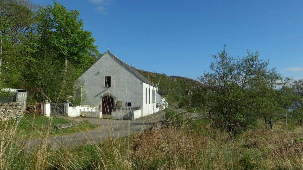 The church at Cambusterrach that inspired Macrae Burnet