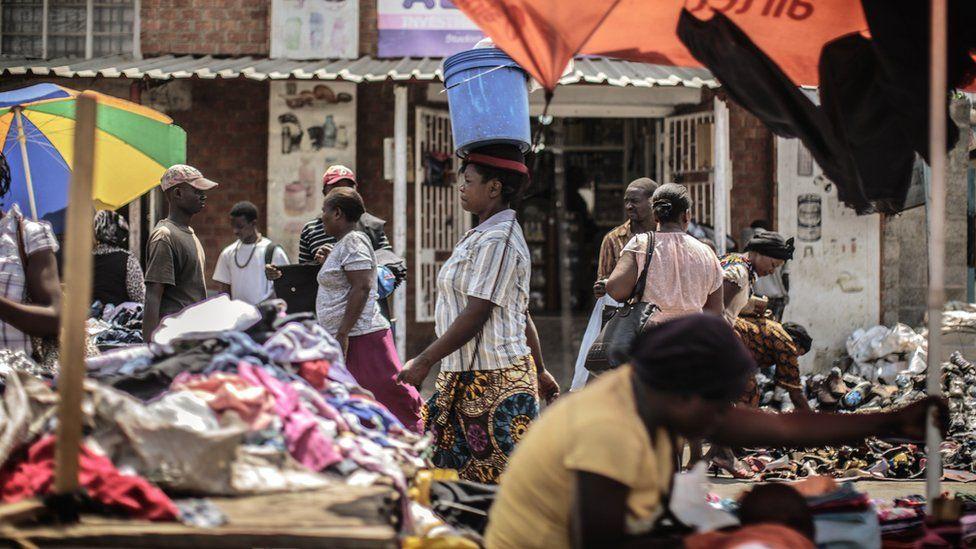 Market scene in Lusaka
