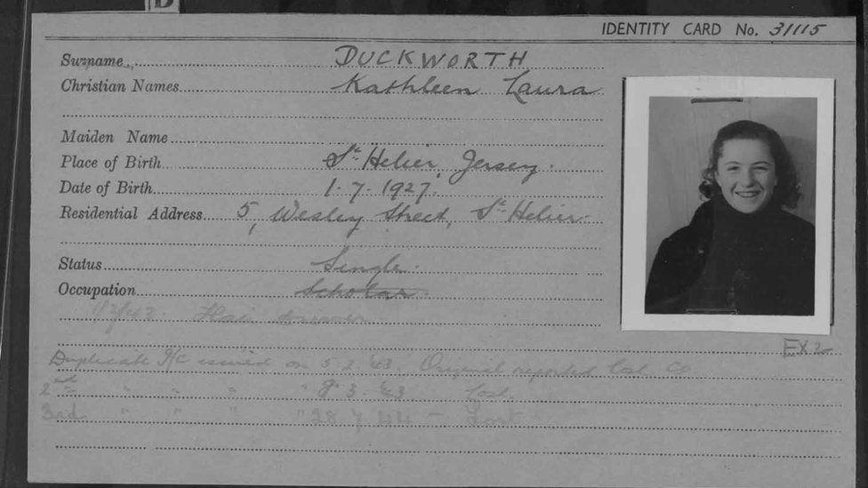 Kathleen Duckworth's prisoner registration card.