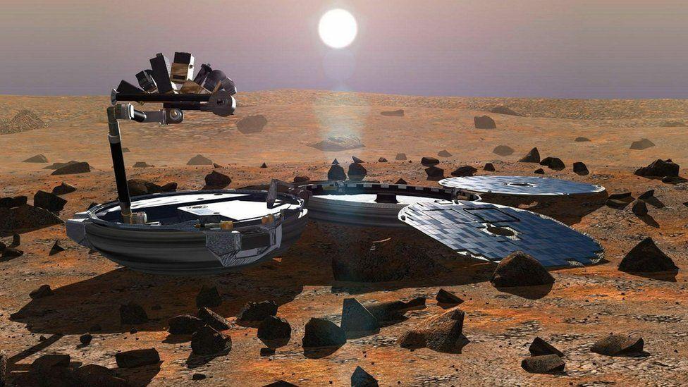 Beagle ar Blaned Mars