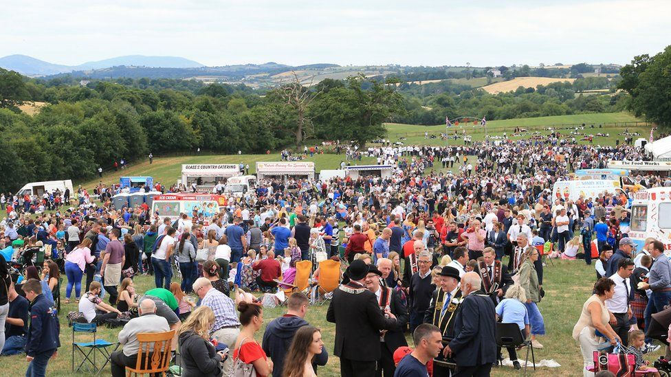 The crowds at the 2018 Scarva Sham Fight