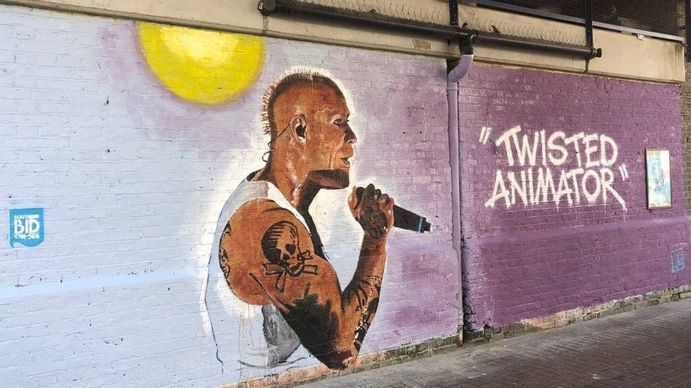 The mural of Keith Flint