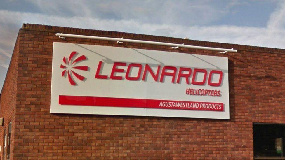 Leonardo Helicopters sign