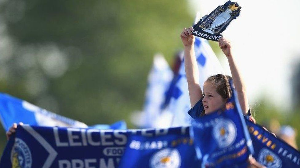 LCFC girl in crowd