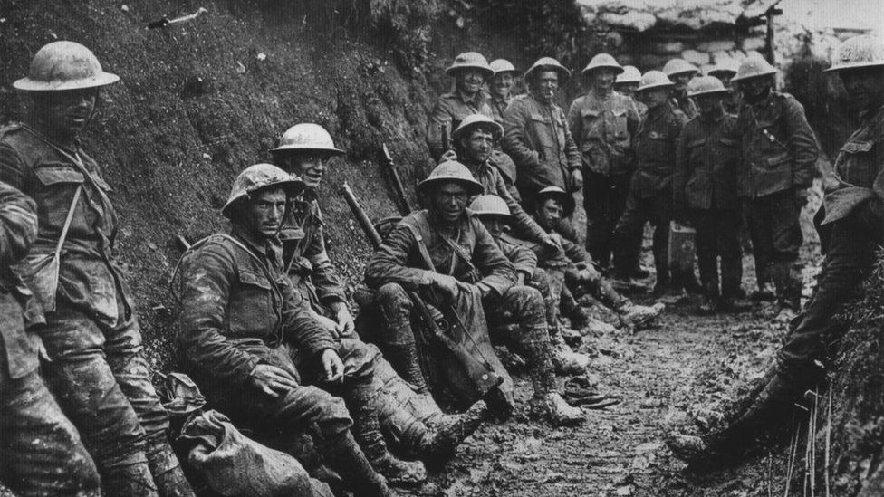 Soldiers of the Royal Irish Rifles at the Somme in 1916