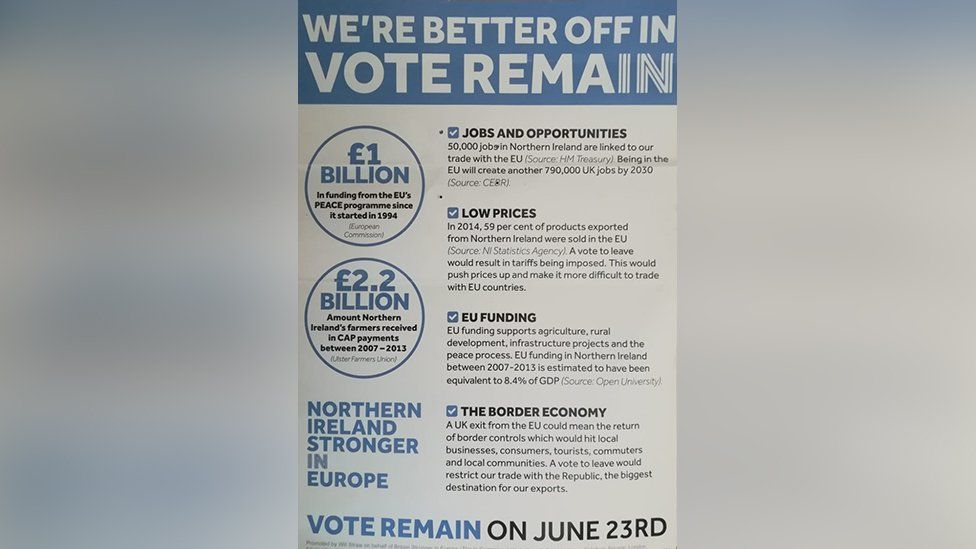 Leaflet from Remain