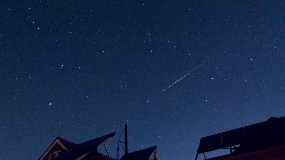 Perseid meteor shower in Hampshire